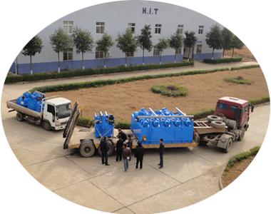公司近月连续生产几套大型液压系统